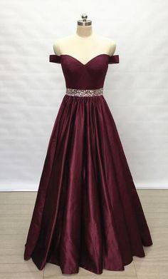 Off the Shoulder Long Prom Dress Custom-made School Dance Dress Fashion Wedding Party Dress YDP0607