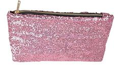 New Trending Make Up Bags: Women Fashion Dazzling Sequins Zipper Clutch Evening Party Bag (Pink). Women Fashion Dazzling Sequins Zipper Clutch Evening Party Bag (Pink)   Special Offer: $4.50      433 Reviews What You Get: 1 x Clutch Bag Size Width: 6.3″/16cm Length: 9.84″ /25cm Thickness: 2.36″ /6cm Attention: Due to the different displays of the computers, the...