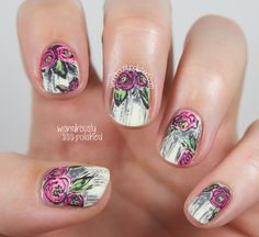 Grungy floral