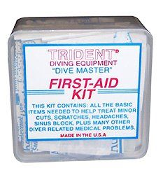 Trident Dive Master First-Aid Kit for Scuba Diving, Snorkeling, and Swimming Injuries Divers Dive Swim Swimmers Snorkel Boat Boating Sail Sailing Trident, First Aid Kit, Snorkeling, Scuba Diving, Swimming, Treats, Boating, Health Care, Fishing