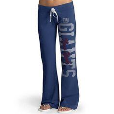 New York Giants Women's Final Day Workout Fleece Pants - Royal Blue