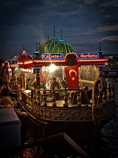 Floating Restaurant, Istanbul by Rafe Abrook on Flickr.