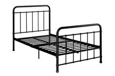 Amazon.com: DHP Brooklyn Iron Bed with Headboard and Footboard (Slats Included), Twin, Black: Furniture & Decor