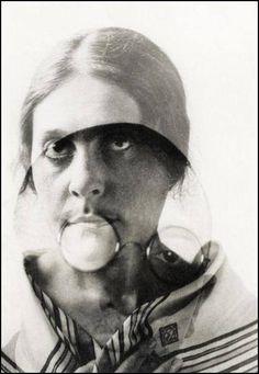 "repulsion66: ""Alexander Rodchenko: Lilya and Osip Briki. Double exposure, 1924 g """