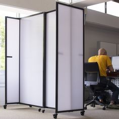 Give Your Employees A Bit Of Privacy In The Office Using Our Polycarbonate  Room Dividers.