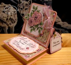Ereti Kaardimaania: Easel card with post-it notes holder