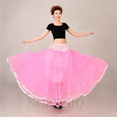 Long pink petticoat, floor length