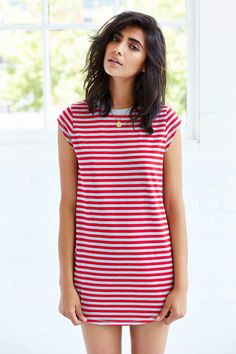 Dhani's Easy Striped T-Shirt Dress From Urban Outfitters