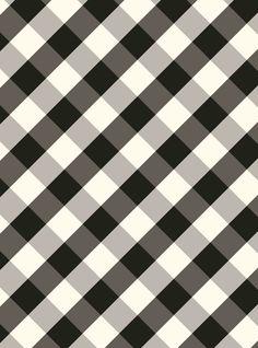 PGW311 Gift Wrap Sheets - Black and White Plaid Buffalo Check / Black Dot