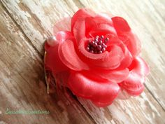 Beach Wedding Hair Coral Flower Hair Comb by SeasationCreations, $10.50