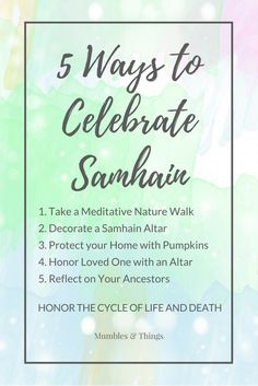 "5 Ways to Celebrate Samhain Samhain (pronounced saah-win or saah-ween) is a festival of the Dead, meaning ""Summer's End."" Samhain is celebrated at the end of the harvest and the start of the coldest. Wiccan Spells, Magick, Wiccan Witch, Samhain Halloween, Happy Halloween, Samhain Traditions, Witchcraft For Beginners, Which Witch, All Souls Day"
