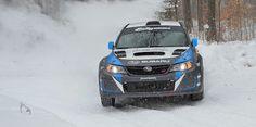 2014 Subaru WRX STI wins Snow* Drift Rally