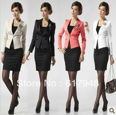 2014 New spring and autumn female professional skirt fashion suit dress set women's work wear-inSkirt Suits from Apparel  Accessories on Al...