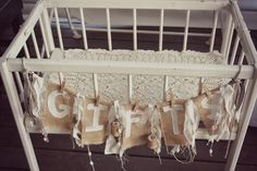 Burlap and Lace Baby Shower - Baby Shower Ideas - Themes