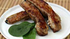 costillas de cerdo marinadas en jugo de pina