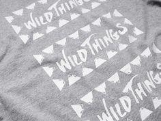 "Wild Things Print Tee ""W.W.W."" - Kinoko Store"