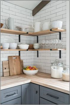 The open kitchen at DIY Network Ultimate Retreat 2017 has an industrial style that highlights natural materials, including wood ceiling beams that pull the eye up and a custom center island that encourages good traffic flow. Diy Cozinha, Kitchen Design, Kitchen Decor, Kitchen Ideas, Open Kitchen Inspiration, Kitchen Corner, Kitchen Island, Wood Counter Tops Kitchen, Wood Kitchen Countertops