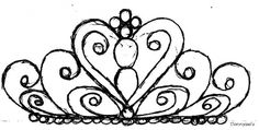 Tiara template for royal icing