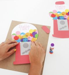 Printable Gumball Machine Themed Birthday Party Invitations: @ajoyfulriot is making it super easy for us to recreate these adorable cards by providing gumball machine printables for the perfect kid birthday bash!