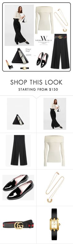 """""""Leather Geommetric Bag♥♥♥"""" by marthalux ❤ liked on Polyvore featuring MANGO, The Row, Sarah & Sebastian, Gucci and Tory Burch"""