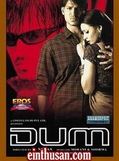 Dum (Hindi) (2003) Hindi in SD - Einthusan Vivek Oberoi, Cd Cover, Great Movies, Sd, Bollywood, Movie Posters, Film Poster, Popcorn Posters, Film Posters