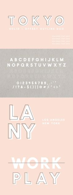 Tokyo | A Designer Font Duo by Jen Wagner Co on @creativemarket