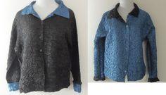 Lounardi Collection Reversible Shirt Jacket Med Blue Black Small Runs Large | eBay  Best Offers Considered~!