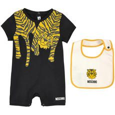 Moschino - Tiger-printed jersey shortall and matching bib - 112681