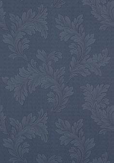 Tibaut Design, ELAND ACANTHUS, Navy, T1058, 25 inch repeat, herringbone background Collection Menswear Resource from Thibaut