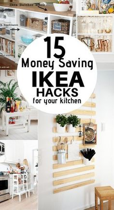 These 15 IKEA Kitchen hacks are the BOMB! They will help me.- These 15 IKEA Kitchen hacks are the BOMB! They will help me save so much money … – Diyprojectgardens.club These 15 IKEA Kitchen hacks are the BOMB! They will help me save so much money … - Hacks Cocina, Cocina Diy, Ikea Hacks, Diy Hacks, Ikea Kitchen Organization, Organization Ideas, Storage Ideas, Organizing, Kitchen Ikea
