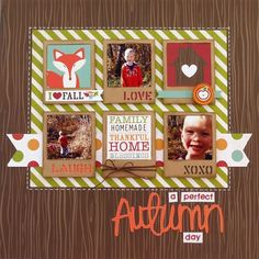 Layout: A Perfect Autumn Day **My Creative Scrapbook** by Skrapaddict | Scrapbook.com
