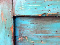 Distressed Queen size headboard Turquoise by theyellowpeony