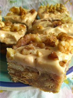 Walnut and Coffee Fudge Slice (No Bake) Big recipe, use half - 1/2 tin condensed. acceptable.