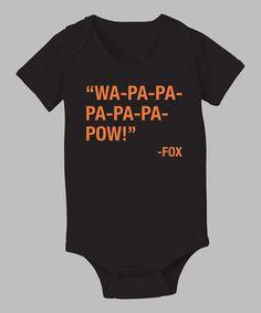 Take a look at this KidTeeZ Black 'Wa-Pa-Pa-Pa-Pa-Pa-Pow' Bodysuit - Infant on zulily today!
