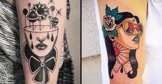 Rad Old School Tattoos By Patryk Hilton