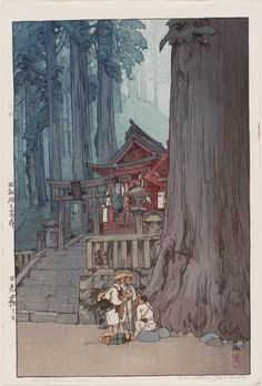 Yoshida Hiroshi, Misty Day in Nikko (Nikkô kiri no hi), 1937, Museum of Fine Arts, Boston