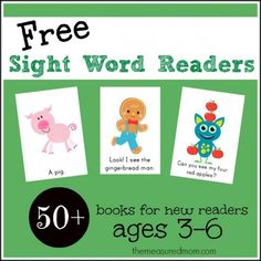 Free Sight Word Emergent Readers from the Measured Mom