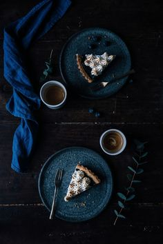 "freshbrewedlife: "" Blueberry Meringue Tart {GF} 