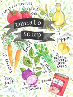 Recipes Illustrated by Ana Victoria Calderon - Tomato Soup