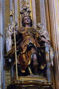 San Rafael Arcángel, Altar de Sn. Miguel, Catedral de Puebla, Pue. | by Tach Jrez. Hra.