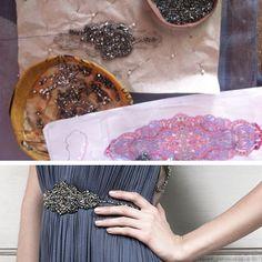 Handbeaded belt on the Tilly dress, SS14, Catherine Deane