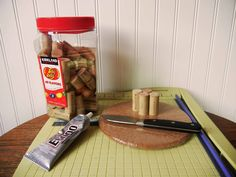 There are so many great things to make with wine corks.  This is the one I decided to try first.  It is so easy and we use it all the time.  It is a wine cork t…