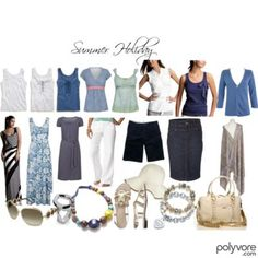summer capsule wardrobe with 12 outfit combos in link