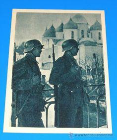 POSTAL DE LA DIVISION AZUL - VOLUNTARIOS ESPAÑOLES FRENTE AL ENEMIGO SERIE I, CUADRO 6 (Postales - Postales Temáticas - II Guerra Mundial y ...