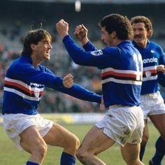 """Mancini e Vialli, """"os gêmeos do gol"""", conquistaram o único scudetto da história da Sampdoria."""