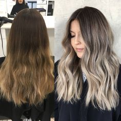 Beige blonde makeover assisted by @hairby_danielmillsaps #babylights #sombre #hairpainting #prettyhair #brunettebalayage #brunettehair #fallhair #beigeblonde #icyblonde #hairinspo #hairbybrittanyy
