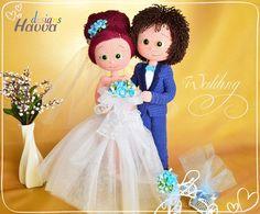 PATTERN  Bride and Groom crochet amigurumi by HavvaDesigns on Etsy