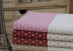 Diy handmade hemp fabric polka dot chromophous fluid sold by meters $17.45