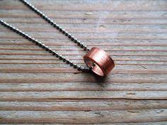 Lange ketting met ring van koper door EarlybirdiesNL op Etsy