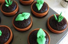 Deceptive cupcake toppers for gardeners with a sweet tooth.